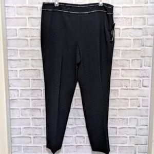 NWT Tahari Arthur S. Levine Black Ankle Dress Pant 14